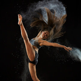 Paige Kick by William Kendzierski - People Portraits of Women ( models, dancers, high speed photography, acrobat, dance )