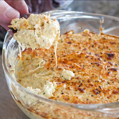 Lemony Parmesan Artichoke (and/or Crab) Dip