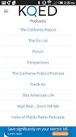 Screenshot of KQED Listen Live