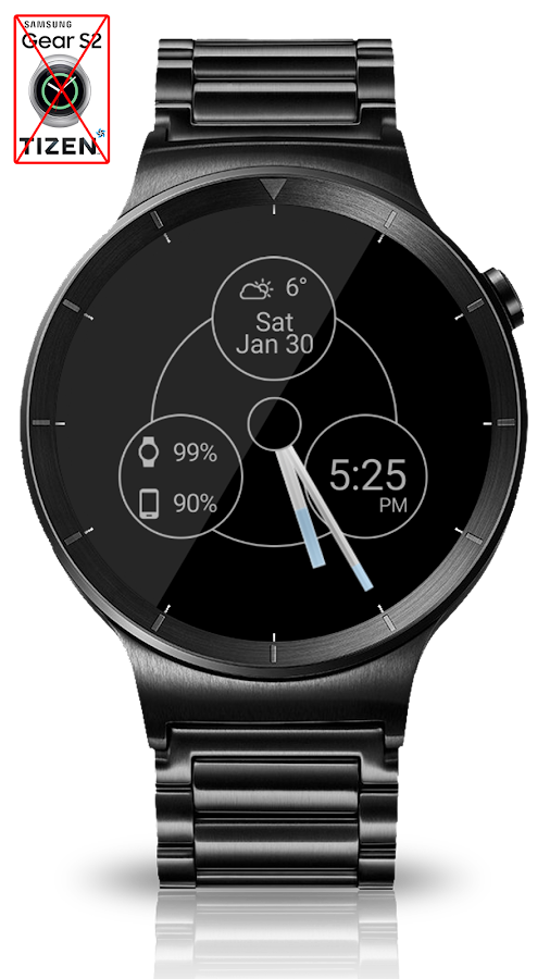 Black Metal HD Watch Face Screenshot 9