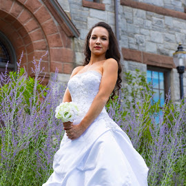 Courtney in the Flower Garden by Peter Miller - People Portraits of Women