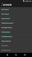 Screenshot of Avinor Flights