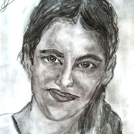 Portrait of my sister by Livia Copaceanu - Drawing All Drawing ( pencil, drawing, portrait )