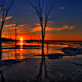 by DE Grabenstein - Landscapes Sunsets & Sunrises ( lake ice, sunrise, nebraska )