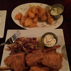 GF cheese curds and fish fry