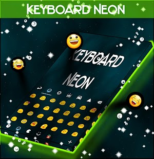 Neon Keyboard Blue Free - screenshot