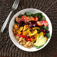 Roasted Roots and Quinoa Rainbow Salad