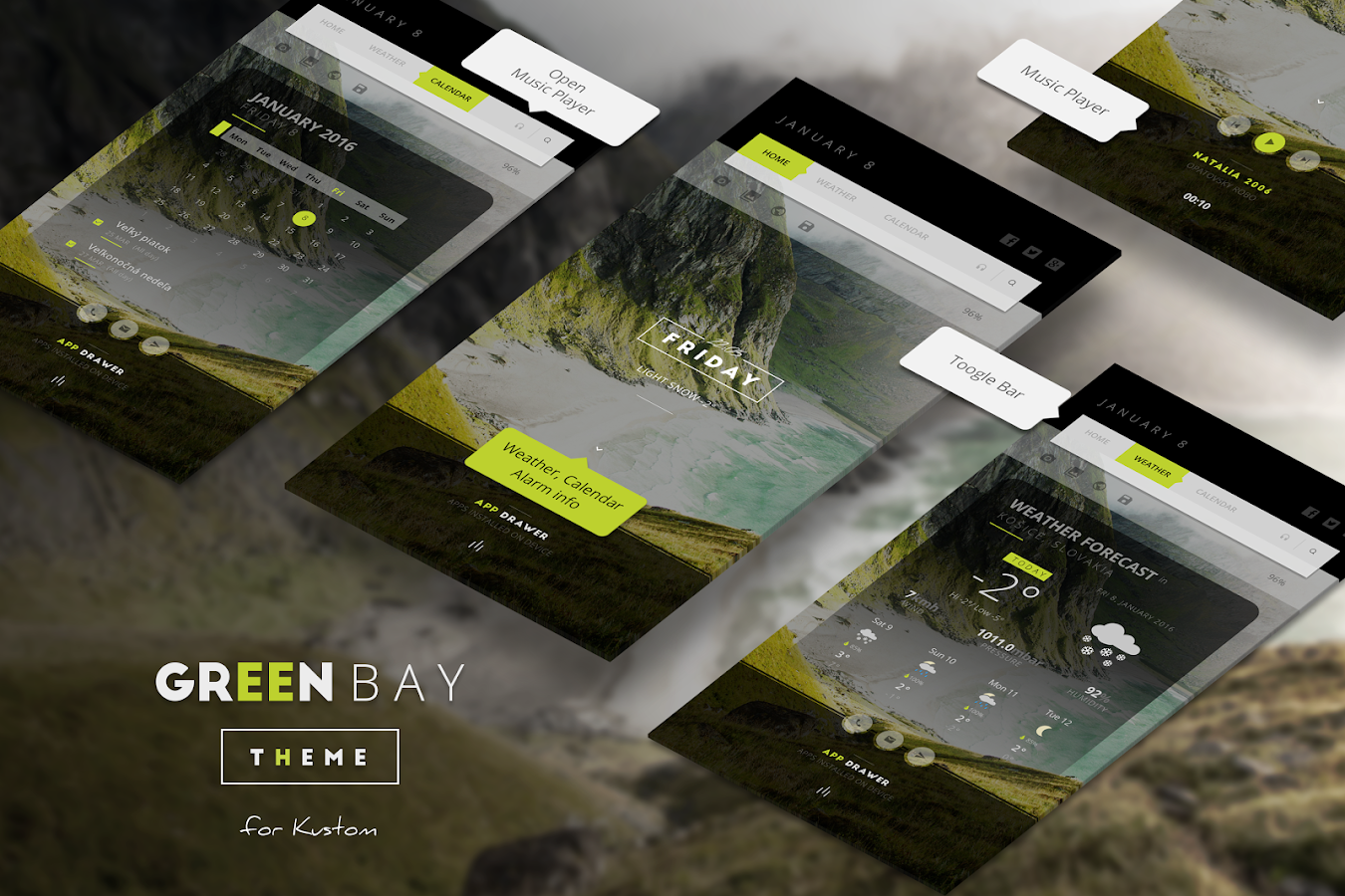 Green Bay Theme for KLWP Screenshot 5
