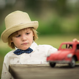 My Red Beetle by Nemanja Stanisic - Babies & Children Children Candids ( playing, old, red, little, boy, beetle )