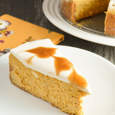 Pumpkin Cheesecake With Butterscotch Swirl