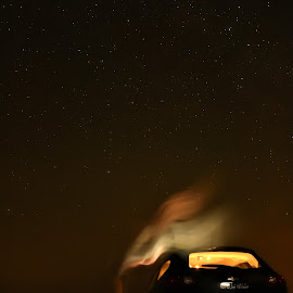 Scary Night by Rahul Trivedi - Abstract Light Painting ( scary, cars, stars, spirit, night )