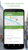 Screenshot of Geovelo Paris