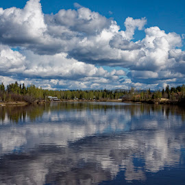Saturday Afternoon on the Nenana River by Marc Baisden - Nature Up Close Water ( boating, adventure, alaska, travel, rivers )