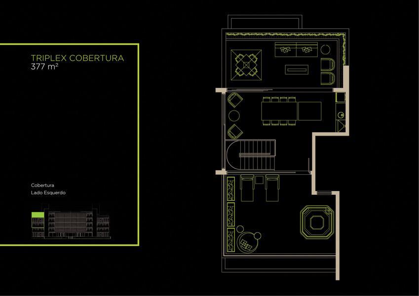 Apto Cobertura Triplex (31A) - 377 m² - Piso Superior