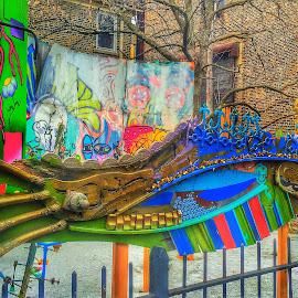 ARTISTIC METAL by Louis Perlia - City,  Street & Park  Street Scenes ( metal, color, graffiti, art, photo stream )