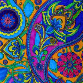BoHo Fun by Amada Gonzalez - Abstract Patterns ( abstract, patterns, art, hippie art, bohemian )