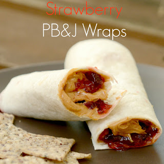 Strawberry, Peanut Butter and Jelly Pastry Wraps