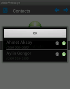 Auto Message - screenshot