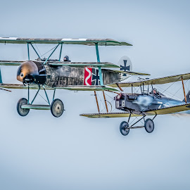 WW1 Dogfight by Anthony P Morris - Transportation Airplanes ( flying, ww1, plane, fly, anthony morris, aeroplane, aircraft, dogfight, aeropanes, planes )