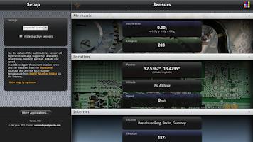Screenshot of Sensors Free