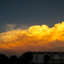 Storm clouds at sunset by Scott Thomas - Landscapes Cloud Formations ( #landscape, #clouds, #nature, #storm, #sunset )