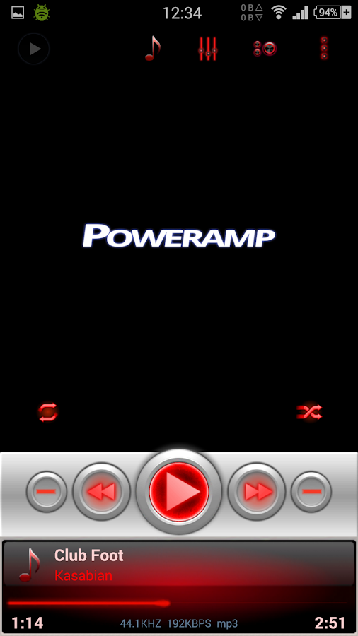 Mad Jelly Red - Poweramp Skin Screenshot 3
