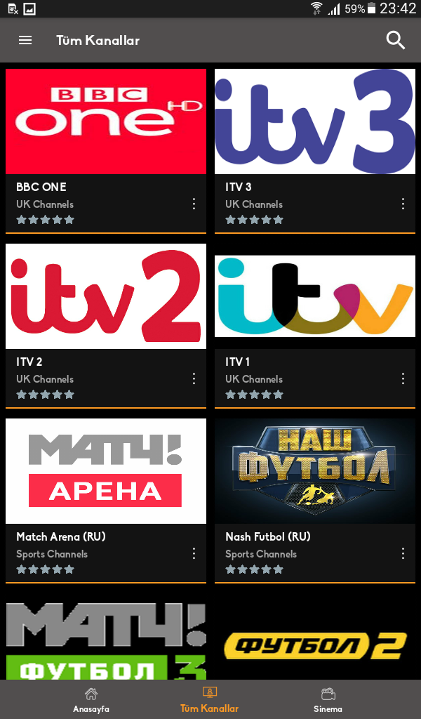 Mobil Android TV Screenshot 2
