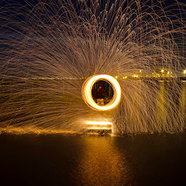 by Broken Phones - Abstract Light Painting ( water, vista, steel wool burning, light trails, night, long exposure )