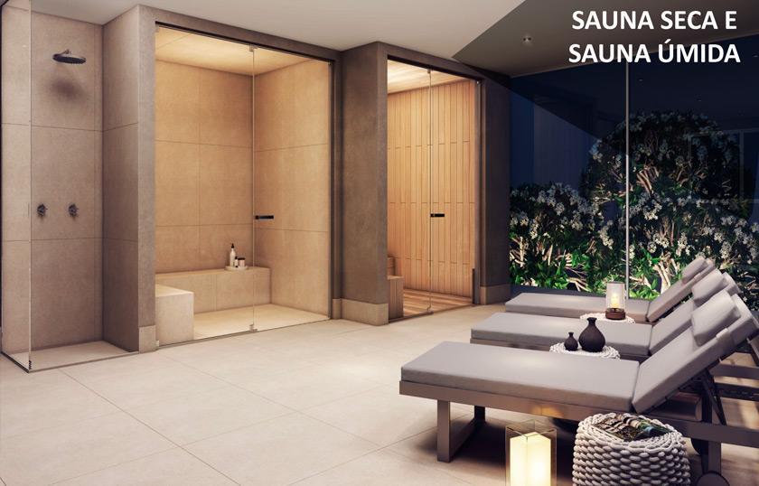 Perspectiva da Sauna Seca e Úmida