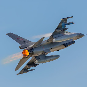 F- 16 by Benny Høynes - Transportation Airplanes ( flight, speed, f16, jetty, airshow, noise, norway,  )