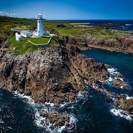 Fanad by Jim Hamel - Landscapes Travel ( cliffs, ireland, lighthouse, fanad head, donegal )