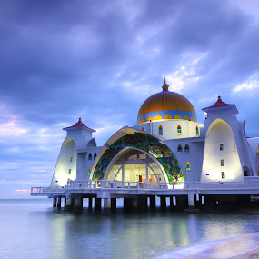 Floating mosque by Tan  Kian Yong - Buildings & Architecture Places of Worship ( muslim, religion, islam, islamic, mosque, melaka, malay, malaysia )