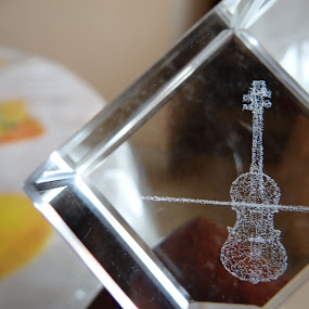 Glass Cube by Brijesh Shivashankar - Artistic Objects Glass ( reflection, violin, glass, cube, closeup )