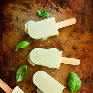 Sweet Basil and Honey Popsicles