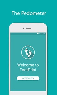 FootPrint Pedometer Fitness app screenshot for Android