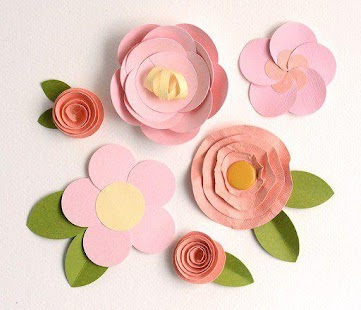 Simple Paper Flower Tutorials - screenshot