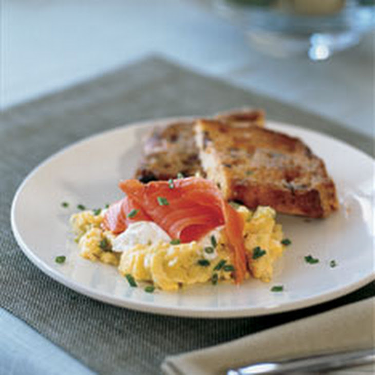 Smoked Salmon Potato Cakes With Herb Creme Fraiche Recipe — Dishmaps