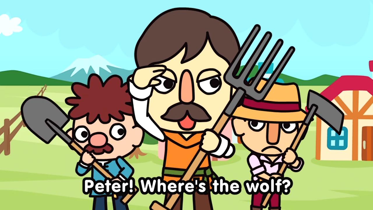 Pedro! Onde está o lobo?