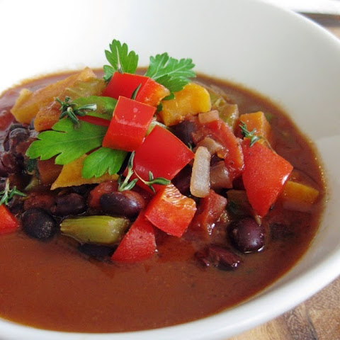 Black Bean, Tomato & Vegetable Soup