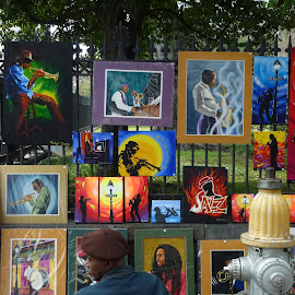 Street Art 1 by David Walters - Artistic Objects Other Objects ( lumix fz200, colors, new orleans french  market, street art, cityscape )