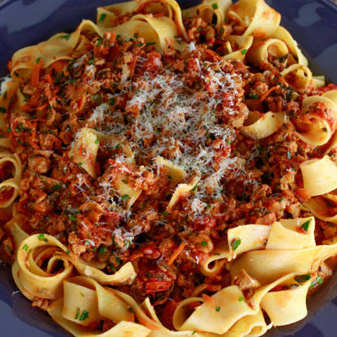 Ground Turkey Ragu with Tagliatelle
