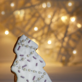 Biscuit by Jukka Pinonummi - Food & Drink Cooking & Baking ( gingersnap, reflection, christmas, finland, kitchen, biscuit, cookie, holiday, finish, food, cooking, baking, light,  )