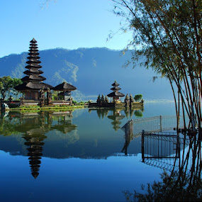Temple, Water and Bamboo by Yande Ardana - Landscapes Travel ( bali, bedugul, ulundanu )