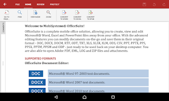 Screenshot of OfficeSuite 8 + PDF Editor