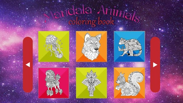 Animal Mandala Coloring Pages For Kids Adult Apk Screenshot
