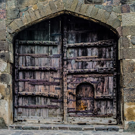 by Moulinath Bhattacharjee - Buildings & Architecture Architectural Detail ( stained, old, wood, fort, gate,  )