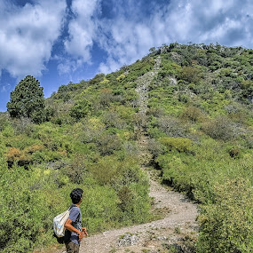 Final Destination by Fateen Younis - People Street & Candids ( hills, leading lines, backpacker, lone, hiking,  )