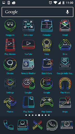 Wireframe 3D Icon Pack - screenshot
