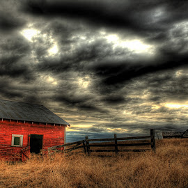 Cyclops Barn by Eric Demattos - Buildings & Architecture Decaying & Abandoned ( red, barn, eric demattos, storm, abandoned )