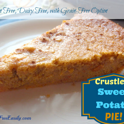 Crustless Sweet Potato Pie (Gluten Free, Dairy Free, with Grain-Free Option)